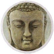 Buddha Head Round Beach Towel by M Montoya Alicea