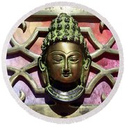 Buddha - Heavy Metal Round Beach Towel