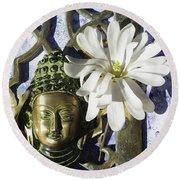 Buddha - Spring Round Beach Towel