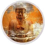 Budha Textures Round Beach Towel