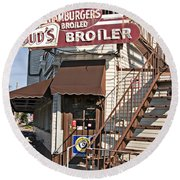 Bud's Broiler New Orleans Round Beach Towel