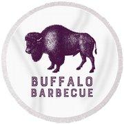 Buffalo Barbecue Round Beach Towel
