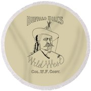 Buffalo Bill's Wild West - American History Round Beach Towel