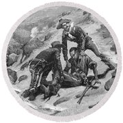 Buffalo Soldier, 1886 Round Beach Towel