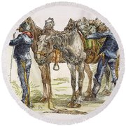 Buffalo Soldiers, 1886 Round Beach Towel