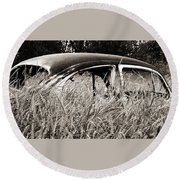 Bug In The Grass Round Beach Towel