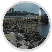 Bug Light Round Beach Towel