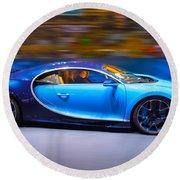 Bugatti Chiron 2 Round Beach Towel