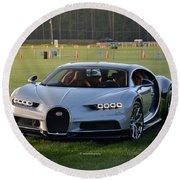 Bugatti Chiron Round Beach Towel