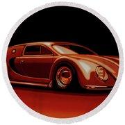 Bugatti Veyron 'beetgatti' 1945 Painting Round Beach Towel