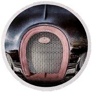 Bugatti Veyron Legend Grille Emblem -0488ac Round Beach Towel