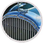 Buick Grill And Hood Ornament Round Beach Towel