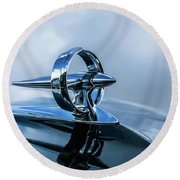 Buick Hood Ornament Round Beach Towel