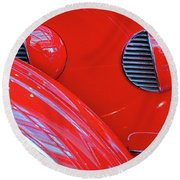 Buick Lasalle Portholes And Fender #3 Round Beach Towel