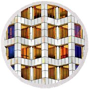 Building Abstract IIid Round Beach Towel