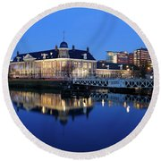 Building Of The Royal Dutch Mint In Utrecht 19 Round Beach Towel