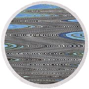 Building Stretch Abstract Round Beach Towel