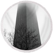 Building To Oblivion Round Beach Towel