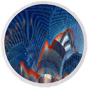 Buildingscape Round Beach Towel