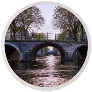 Built 1722. Amsterdam Canals Round Beach Towel