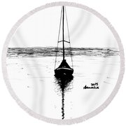 Built For Water Round Beach Towel