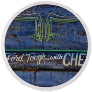 Built Ford Tough With Chevy Stuff Round Beach Towel