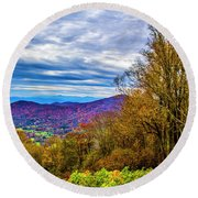 Bull Creek Valley Round Beach Towel