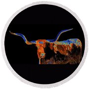 Bull II   14616 Round Beach Towel