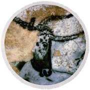 Bull: Lascaux, France Round Beach Towel