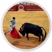 Bullfighting 21 Round Beach Towel