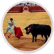 Bullfighting 22 Round Beach Towel