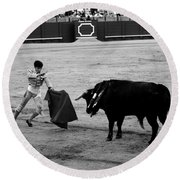 Bullfighting 22b Round Beach Towel