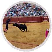 Bullfighting 35 Round Beach Towel