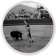Bullfighting 36b Round Beach Towel