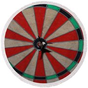Bulls Eye Round Beach Towel