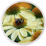 Bumble Bee At Work Round Beach Towel
