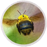 Bumblebees Flight Round Beach Towel