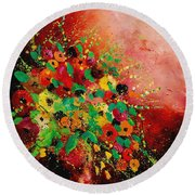 Bunch Of Flowers 0507 Round Beach Towel