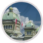 Bundeshaus The Federal Palace Round Beach Towel