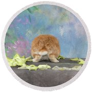 Bunny Butts Are Beautiful  Round Beach Towel