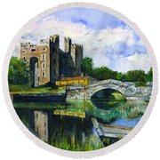 Bunratty Castle Round Beach Towel