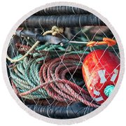 Buoy And Ropes Round Beach Towel