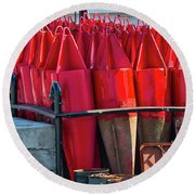 Buoys For The Mississippi Round Beach Towel