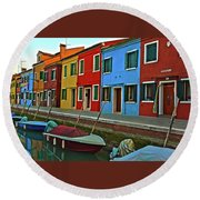 Burano Round Beach Towel
