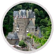 Burg Eltz Castle Round Beach Towel