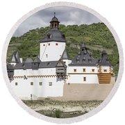 Burg Pfalzgrafenstein In Kaub Germany Round Beach Towel