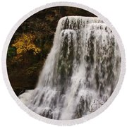 Burgess Fall Tennessee Round Beach Towel