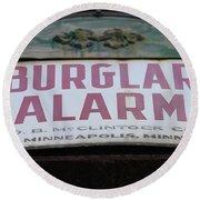 Burglar Alarm Round Beach Towel