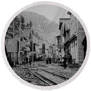 Burke Idaho Ghost Town In Its Prime Round Beach Towel