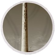 Burlington, North Carolina Factory Sepia Round Beach Towel
